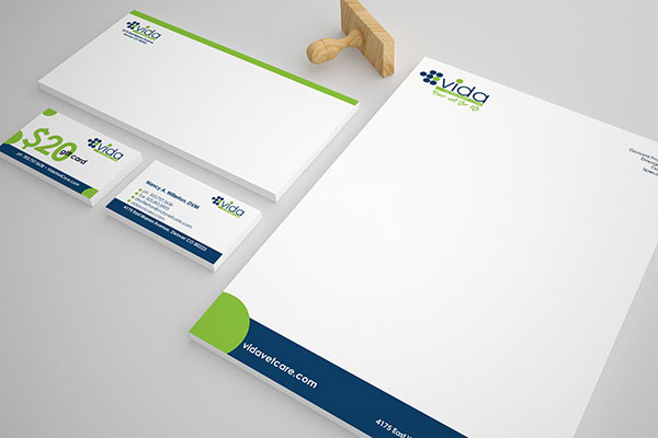 VIDA Stationery Design