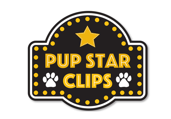 Pup Star Clips Logo